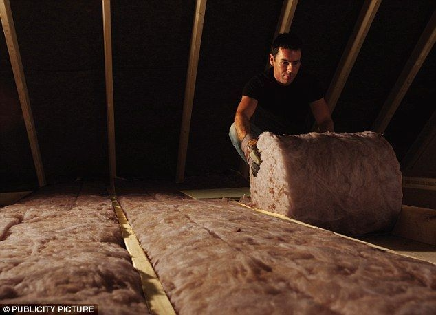 Savings: Loft insulation being fitted #homeimprovementadvisor,