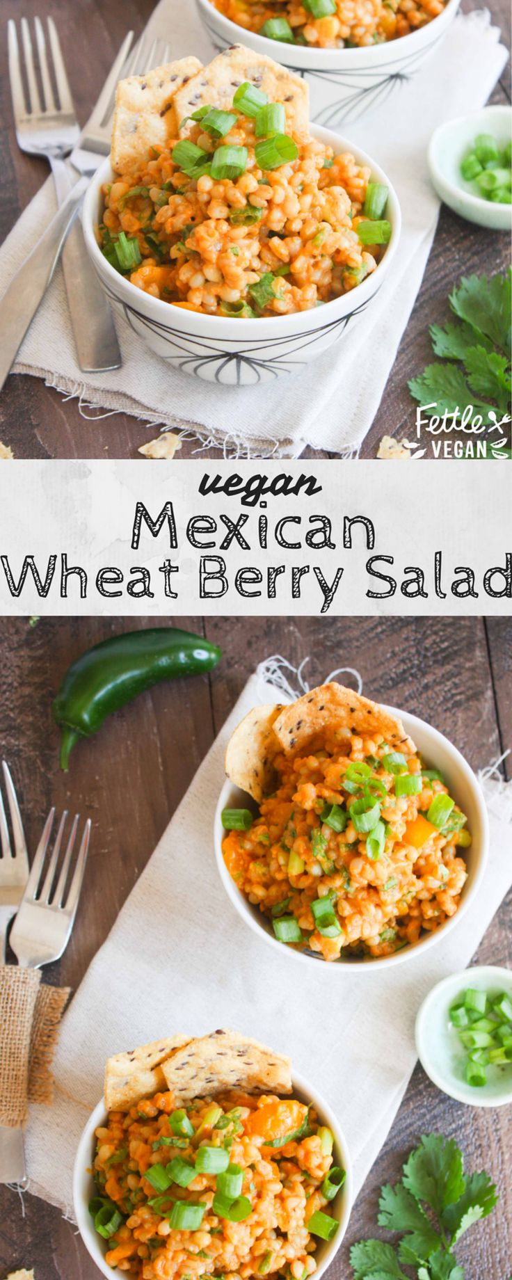 Mexican Wheat Berry Salad: a little bit spicy and full of flavor, it's the perfect #TacoTuesday side dish! #vegan