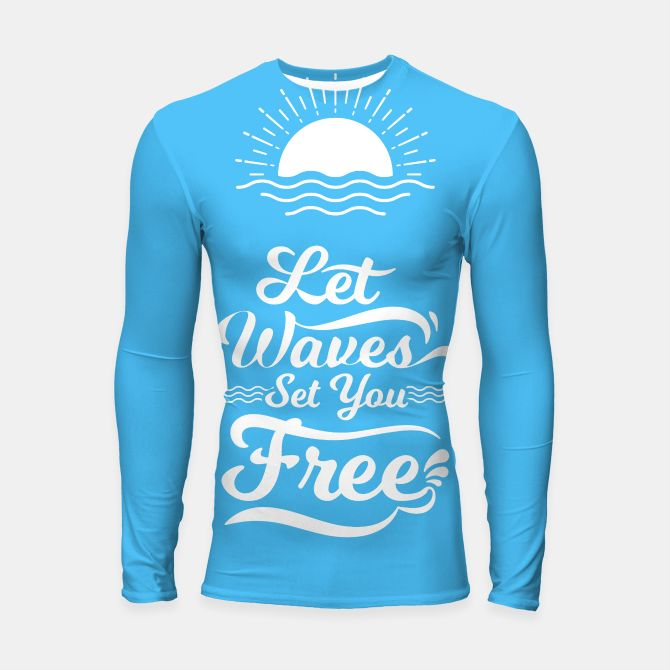 Let Waves Set you Free Longsleeve Rashguard