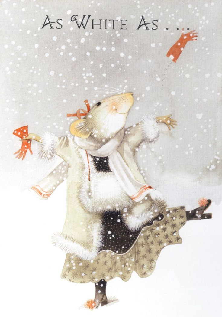 """It's Snowing!"" by Marjolein Bastin. What a fashionista! Marjolein Bastin (born 1943 in Loenen aan de Vecht) is a Dutch noted nature artist, writer, children's author and illustrator."