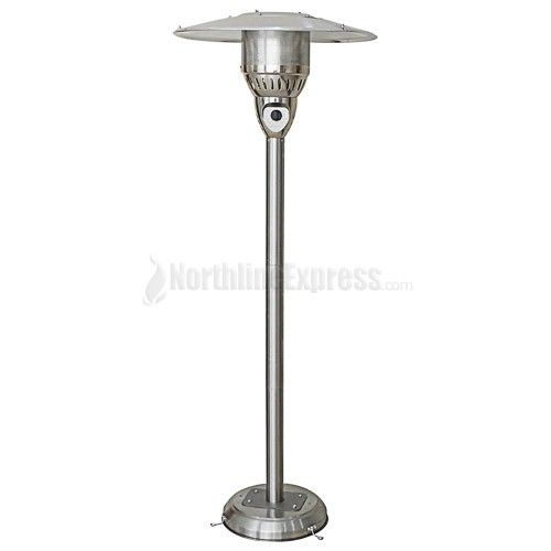Enjoy More Time Outside On Your Patio With This Golden Flame Premium Series  Stainless Steel Natural Gas Tall Patio Heater.The Easy Push Button Piezo ...