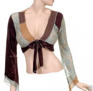 Different type of top belly dancers can wear instead of an bra.