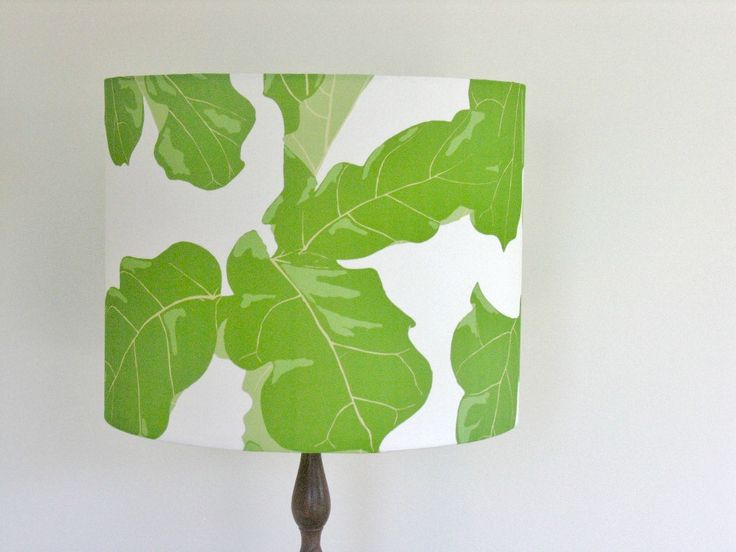 """""""Tropicali"""" ...the Fiddle Leaf Fig lampshade."""