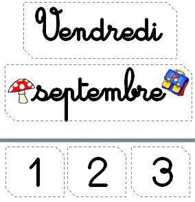 Etiquettes calendrier - Le petit cartable de Sanleane