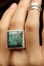 This Consuelo Ring was artisan crafted by inspired jewelry lapidary and designer, Erika Pena. She is a sweet spirit, collecting her gemstones around Bali and beyond. Once in her possession, the gems are treated with the utmost care. Find Ms. Penas' collection at curare-curare.com