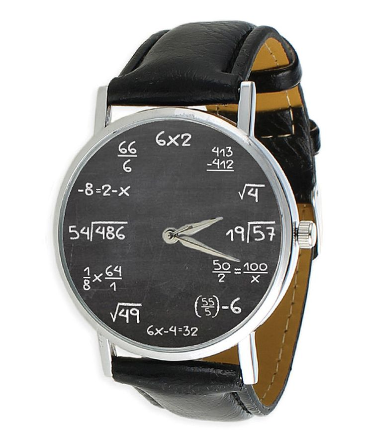 Love this Black & Silver Math Equations Watch by ZAD on #zulily! #zulilyfinds... my eye is twitching because Math!