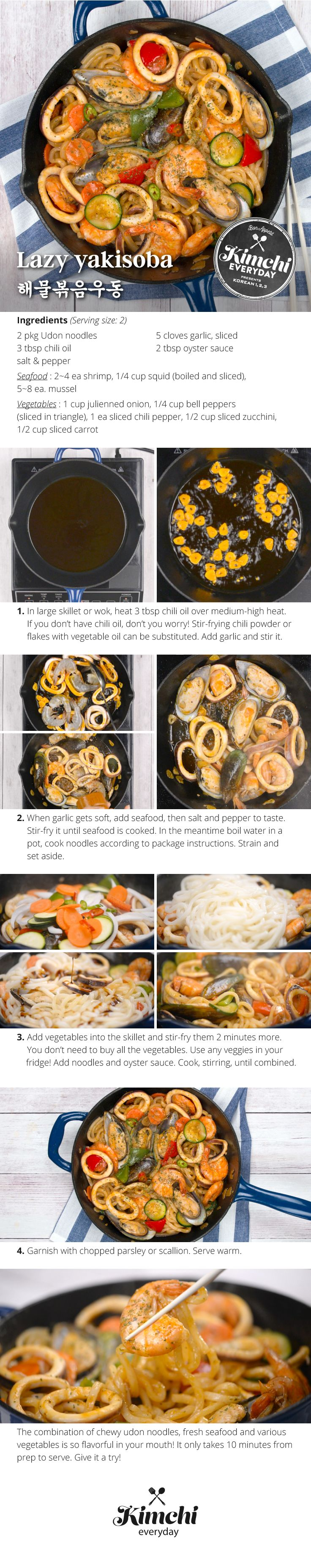 So fast. So tasty. The perfect one-pan recipe for those lazy noodle lovers!