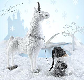 Unicorn and Troll pattern by Alan Dart via Ravelry.