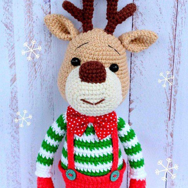 Weihnachten Hirsch frei Amigurumi Muster