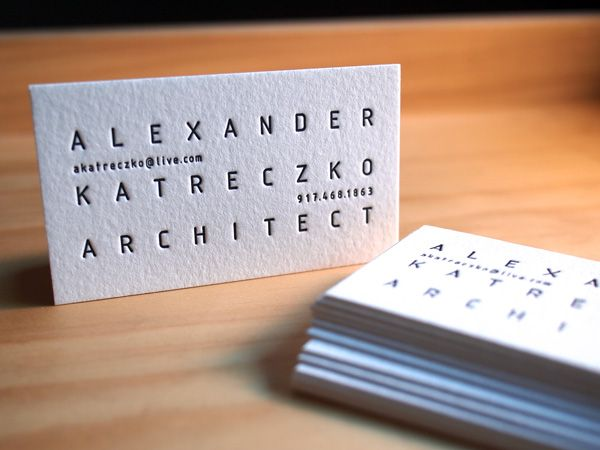 50 best letterpress business cards images on pinterest embossed alexander katreczko letterpress business card on 500g somerset from parklife press colourmoves Gallery