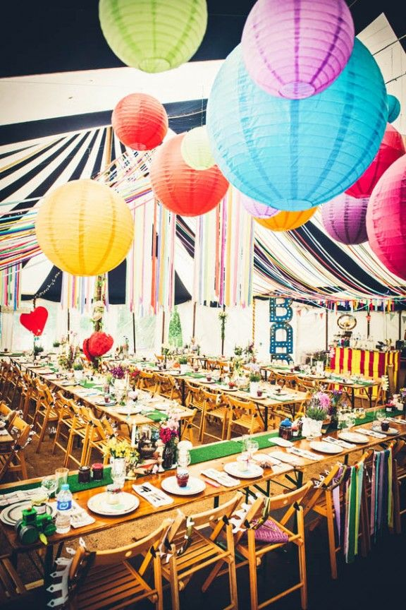 Crazy awesome reception decorations - photo by Blooming Photography