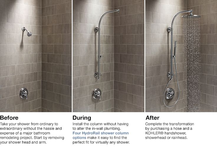 KOHLER   HydroRail® Shower Columns   Bathroom New Products   Bathroom  Check the link for style and price.