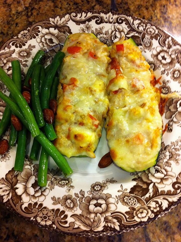 Crab Stuffed Zucchini   My Health   Pinterest