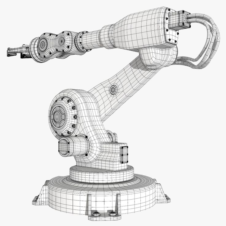 fbx industrial robot modeled