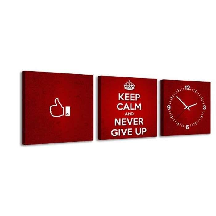 Zegar ścienny - obraz 4MyArt Keep Calm 105 x 35cm ◾ ◾ PrezentBox