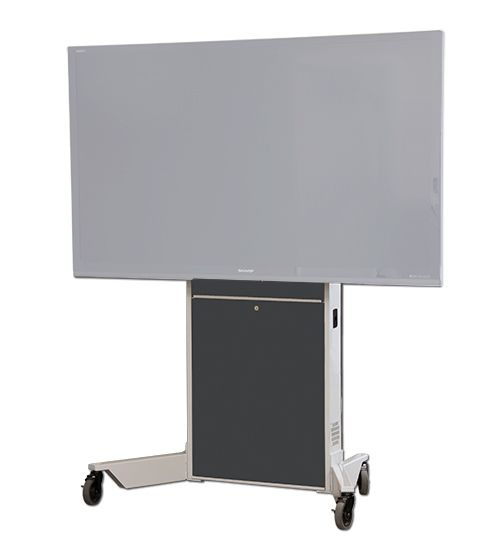 The LFT7000-S heavy duty mobile lift stand for single monitors has motorized lift capability for large TV's and SMART Board® interactive displays including model 8070i and 8084i (landscape orientation). It is a self supporting, wheeled stand. Ideal for environments where adjustable height or ADA is required.