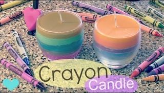 CRAYON CANDLE - How To - Home Decor - Fall Into Crafts  Home Decor