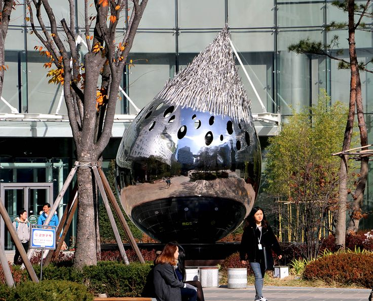 Sculpture in front of MBC at Star Park Korea