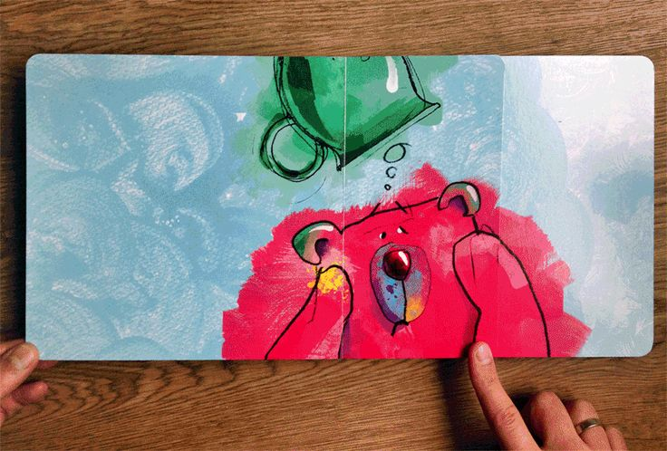 unusual book for children, shows groan running animation, book, kids, anime | www.bobom.pl