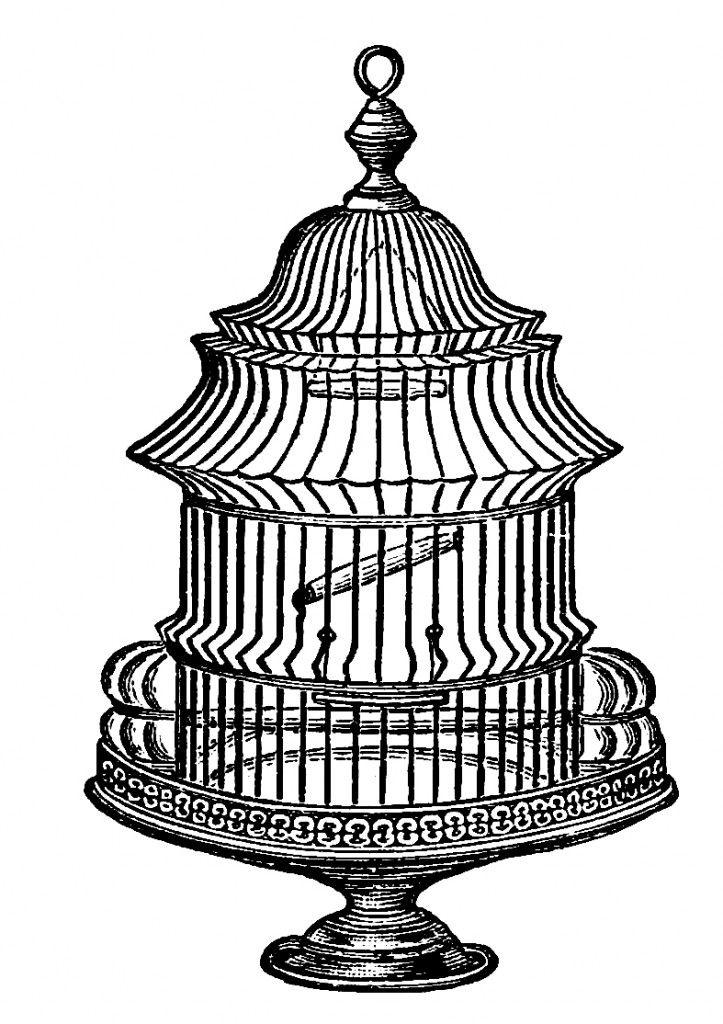 Free Vintage Bird Cage Clip Art Image No. 2