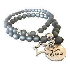 Armbanden set van 2 Live your dream... | ARMBANDEN EIGEN LABEL LIVIA | VILLA VICA