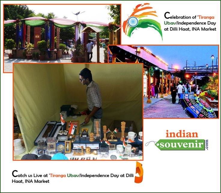 "Catch us Live at ""Celebration of 'Tiranga Utsav/Independence Day at Dilli Haat, INA Market"".  Visit us at our Kiosk to shop for some of the coolest Stuff we have for you on this 68th Independence Day eve."