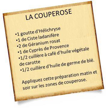 traitement couperose 1 Traitement couperose avec les huiles essentielles