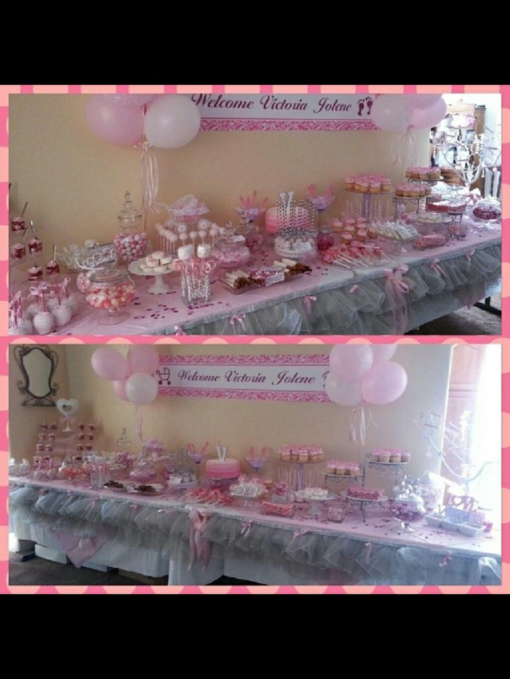 175 Best Pink Silver Baby Shower Images On Pinterest Baby Shower