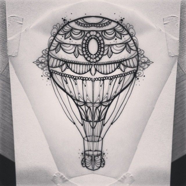 "@m1ss_juliet's photo: ""#airballoon #tattoo #primordialpain"""