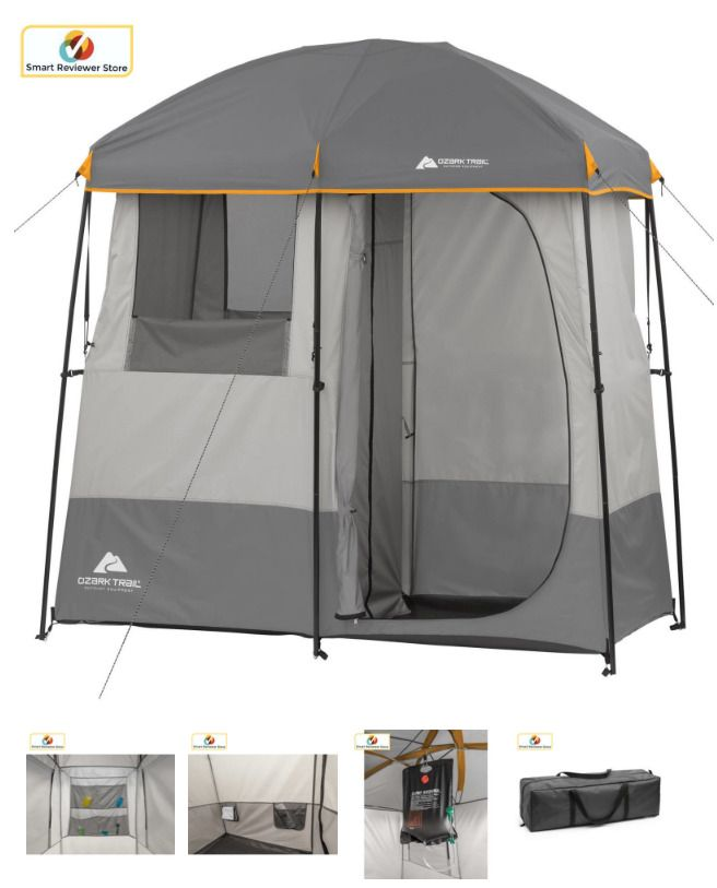 promo code dbbd8 a158d Portable Shower Tent Non-Instant 2 Room Camping Shelter ...