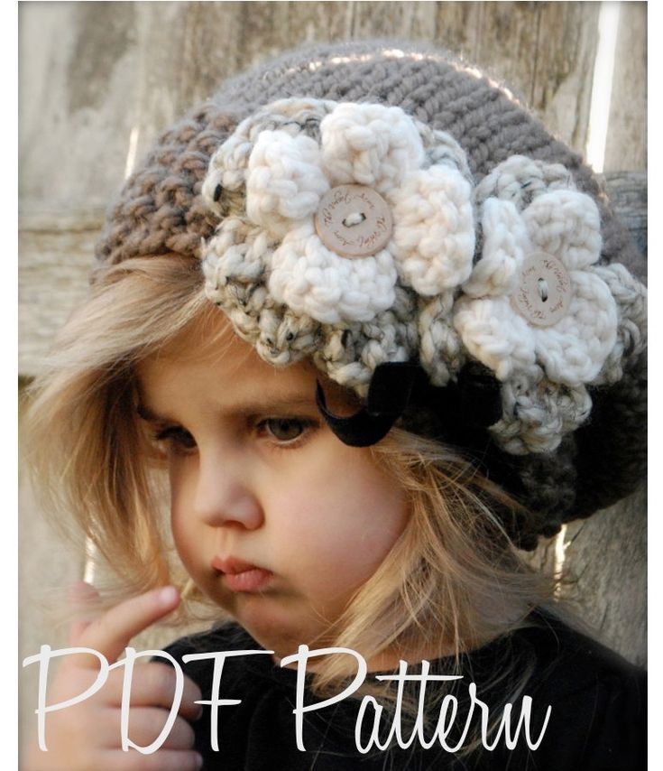 Knitting PATTERN-The Babette Slouchy (Toddler, Child, and Adult sizes). $5.50, via Etsy.