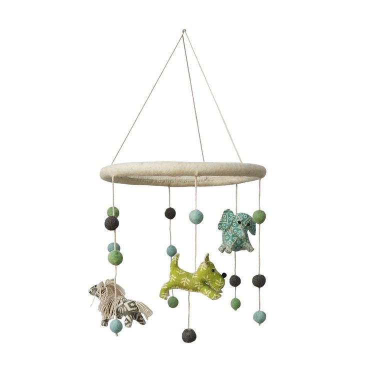 Add a whimsical touch to any nursery with mobiles from Fiona Walker England.