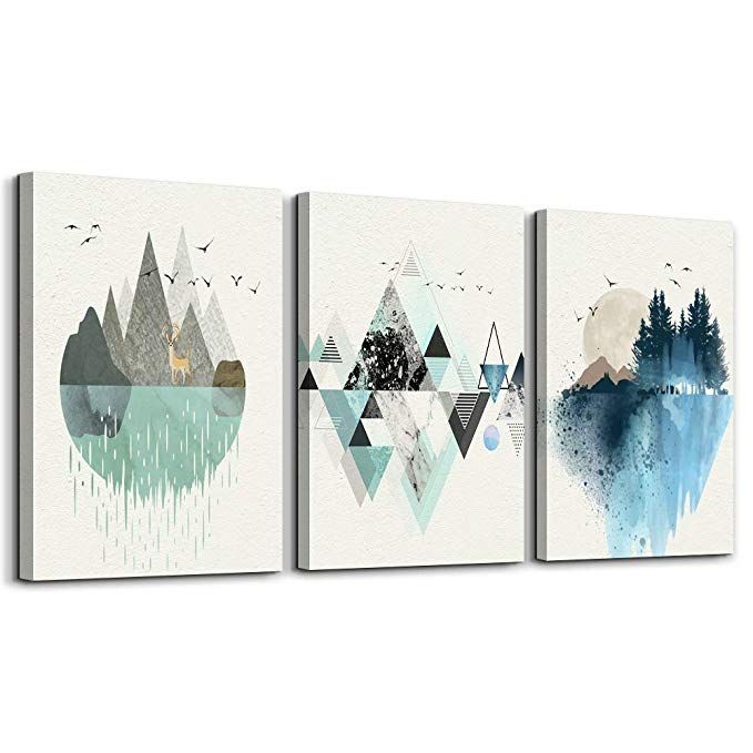Amazon Com Abstract Mountain In Daytime Canvas Prints Wall Art Paintings Abstract Geometry Wall Artwork Amazon Wall Art Wall Art Canvas Prints Wall Art Prints