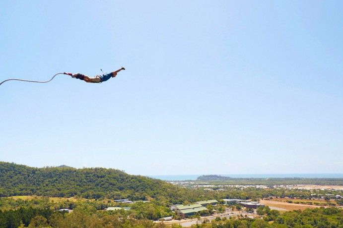 """Bungee jump Cairns by Max Coquard. Choose from their """"menu"""" of jumps! http://blog.queensland.com/2014/11/20/100-things-to-do-cairns-great-barrier-reef/ #thisisqueensland"""