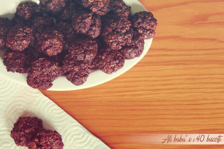 Biscotti ai fiocchi d'avena e cacao