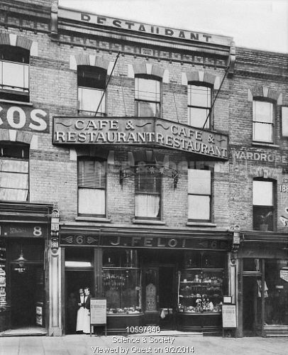 Mr J Feloi's restaurant, Archway Road, 1904. This was just across the road from the Archway Tavern