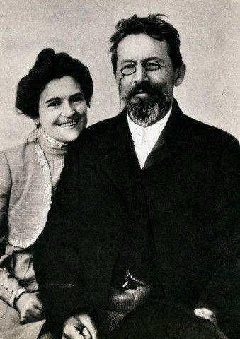 "Chekhov and his wife, Olga  ""Perhaps the feelings that we experience when we are in love represent a normal state. Being in love shows a person who he should be.""  Anton Chekhov"