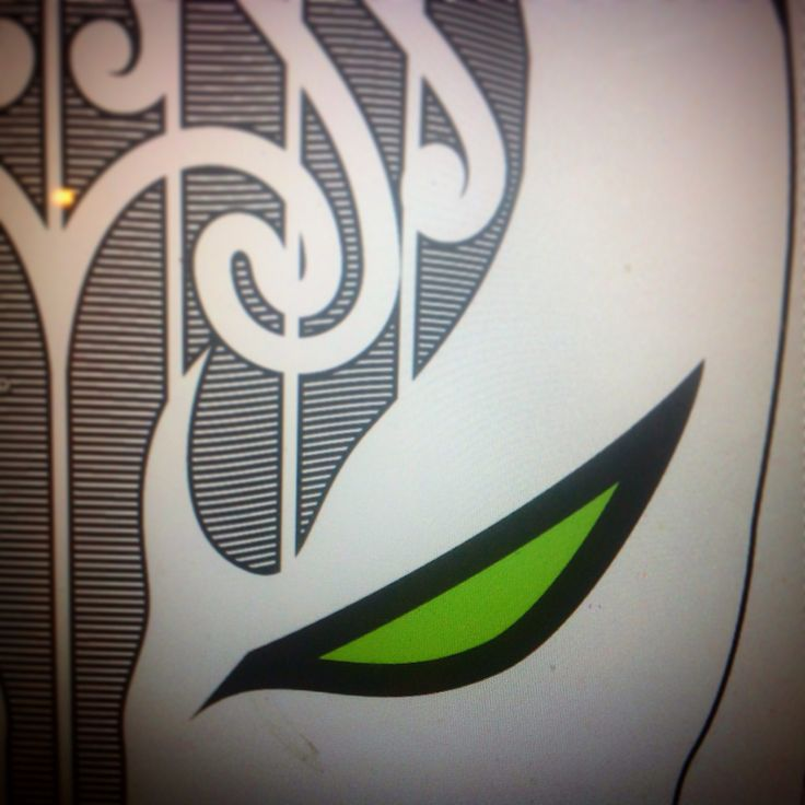 Work in prog - new screen print design inspired by traditional maori tattoo and a favourite character of mine.