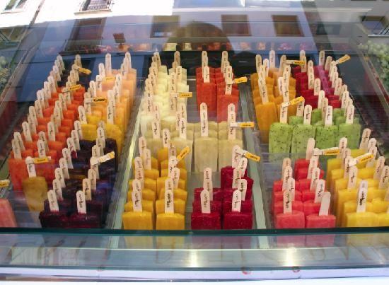 La Bottega del Gelato, Florence, Italy. Such a cute Popsicle shop.