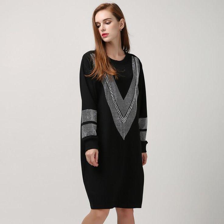 Diamond Rhinestone T-Shirt Dress, Dresses, shopboldlyher