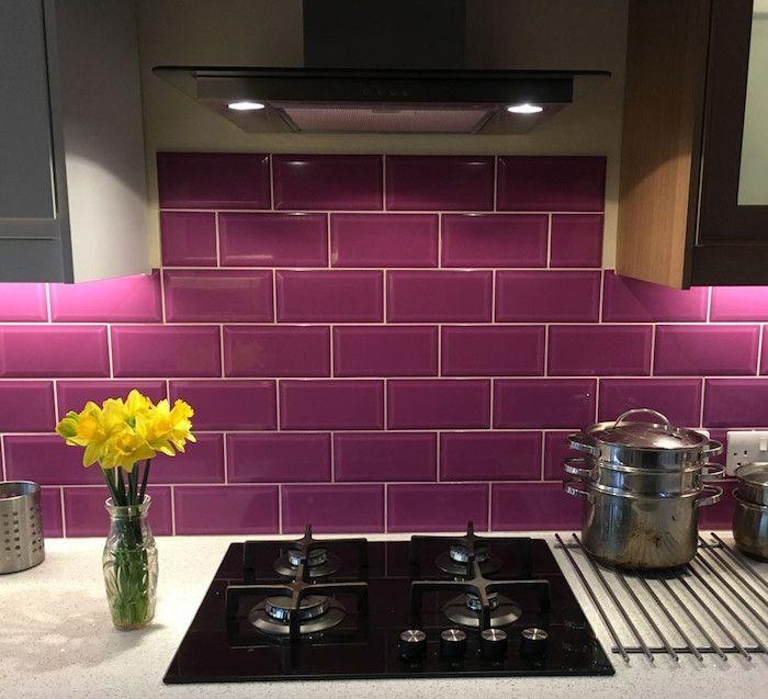 Credence Carrelage Une Mosaique De Possibilites Purple Tile
