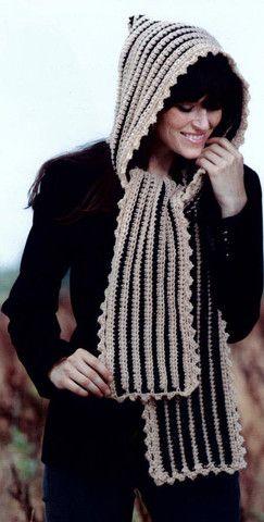 Maggie's Crochet · Hooded Scarves To Crochet #crochet #pattern #scarf #hooded #cute #warm