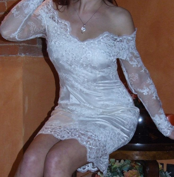 Abito da sera elegante in pizzo bianco. di TNatali su Etsy