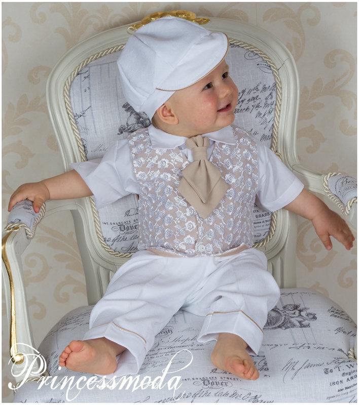 ♥ PAUL ♥ BEBE VERANO TRAJE DE CREMA - Princessmoda - Alles für Taufe Kommunion und festliche Anlässe