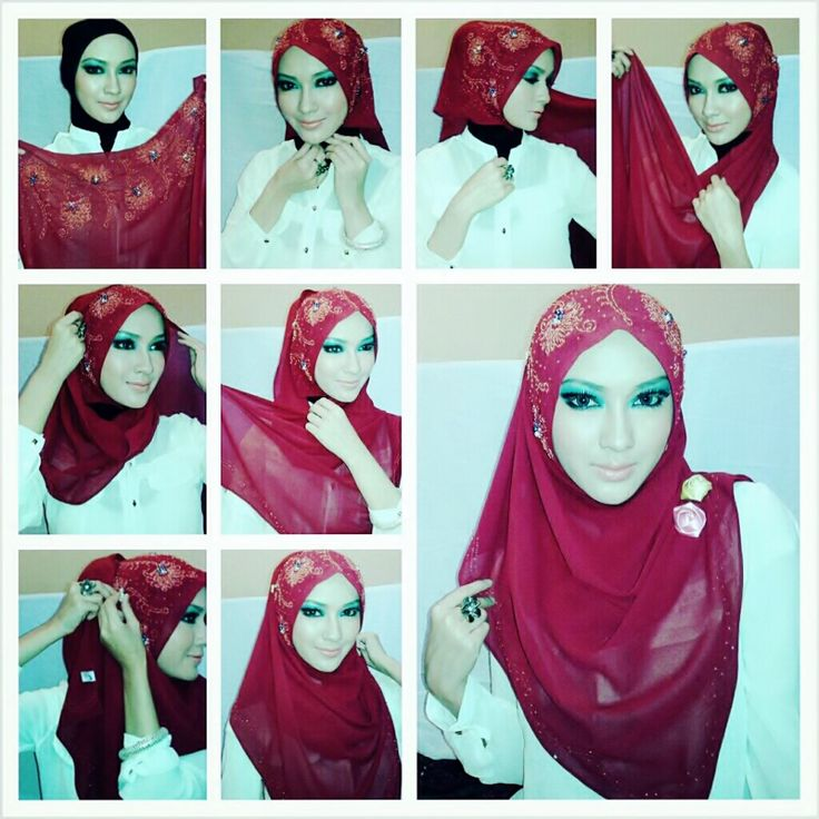 Latest Hijab Styles & Designs Tutorial with Pictures for Modern Girls 2015  (16)