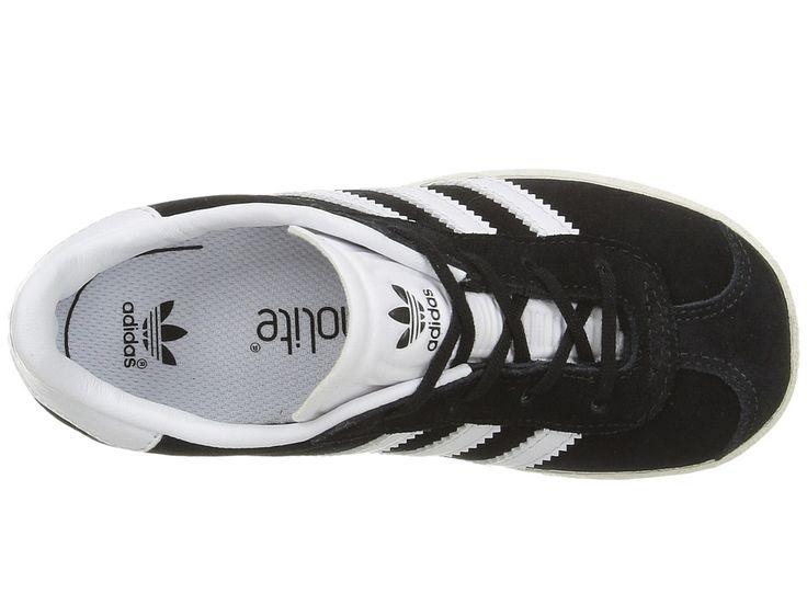 adidas Originals Kids Gazelle (Toddler) Kids Shoes Black/White/Gold