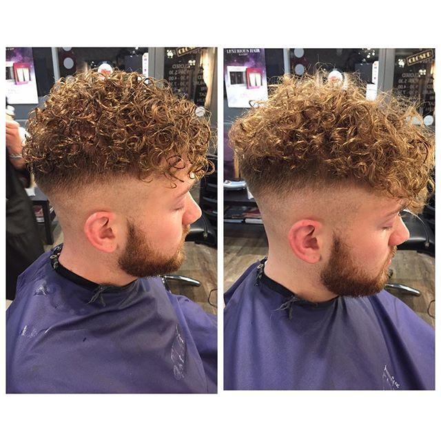 MERM✌️ (man perm) left: hair is wet #planethairandbeauty #manperm #curls
