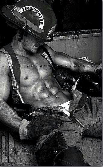 On second thought.....a piece of burnt toast could do the trick #HunkDay #Firemen
