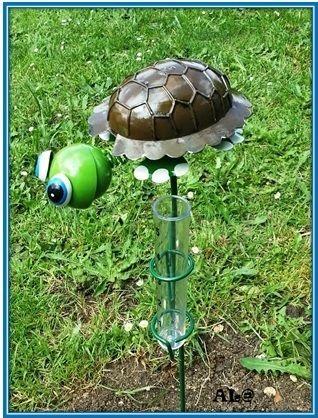 Semaine 42: Au jardin    Paulette la tortue pluviomètre