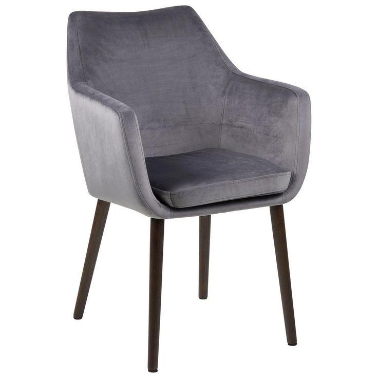 carryhome armlehnstuhl samt grau jetzt bestellen unter. Black Bedroom Furniture Sets. Home Design Ideas